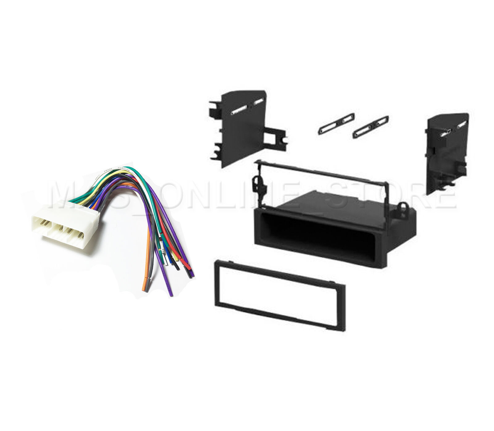 Car Stereo Single DIN Dash Kit And Wire Harness Chevrolet Aveo Daewoo  Suzuki 1 of 4FREE Shipping See More