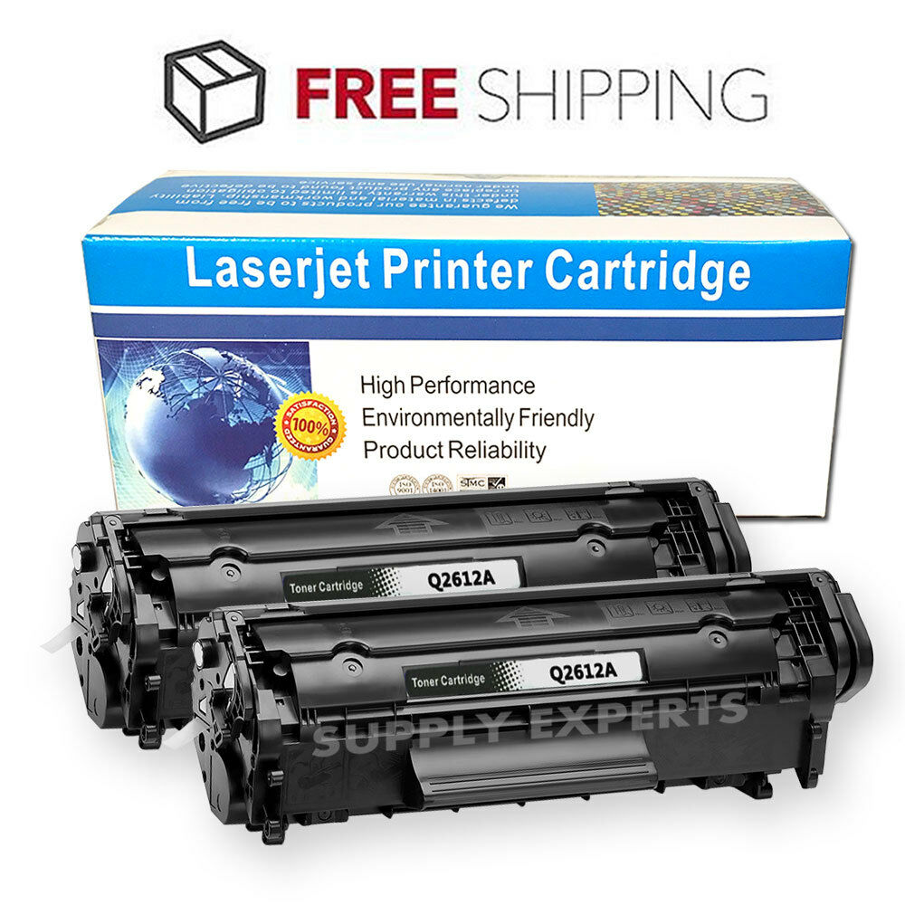 2pk Q2612a 12a Toner Compatible For Hp Laserjet 1015 1018 1020 1022 Cartridge 3015 1012 1 Of 4free Shipping