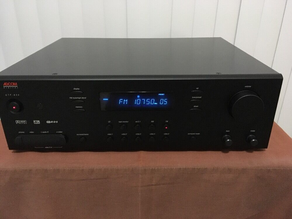 adcom gtp 830 surround sound processor preamplifier 120 240v rh picclick com  adcom gtp-830 manual