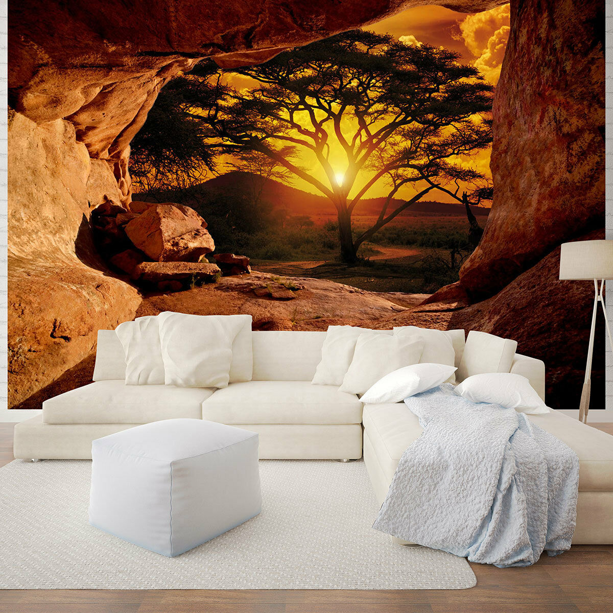 vlies tapeten fototapete foto afrika baum sonnenuntergang. Black Bedroom Furniture Sets. Home Design Ideas