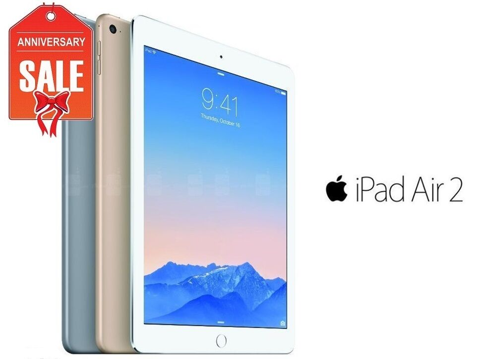 apple ipad air 2 32gb wifi cellular unlocked 9 7 gold. Black Bedroom Furniture Sets. Home Design Ideas