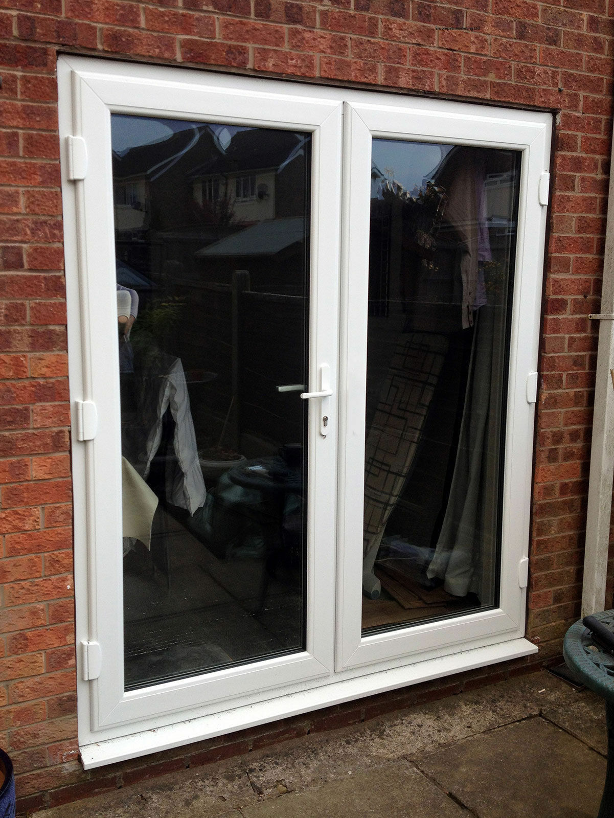 White upvc french doors in stock fast delivery for Upvc french doors yorkshire