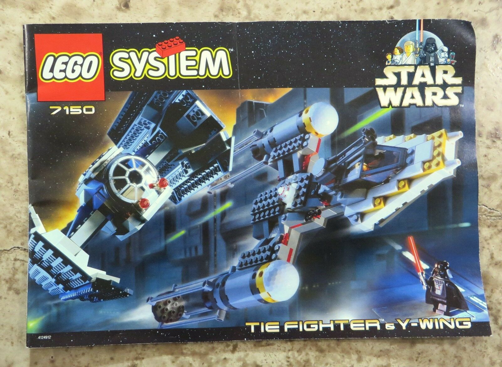 Lego Star Wars 7150 Instruction Manual Only Tie Fighter Y Wing