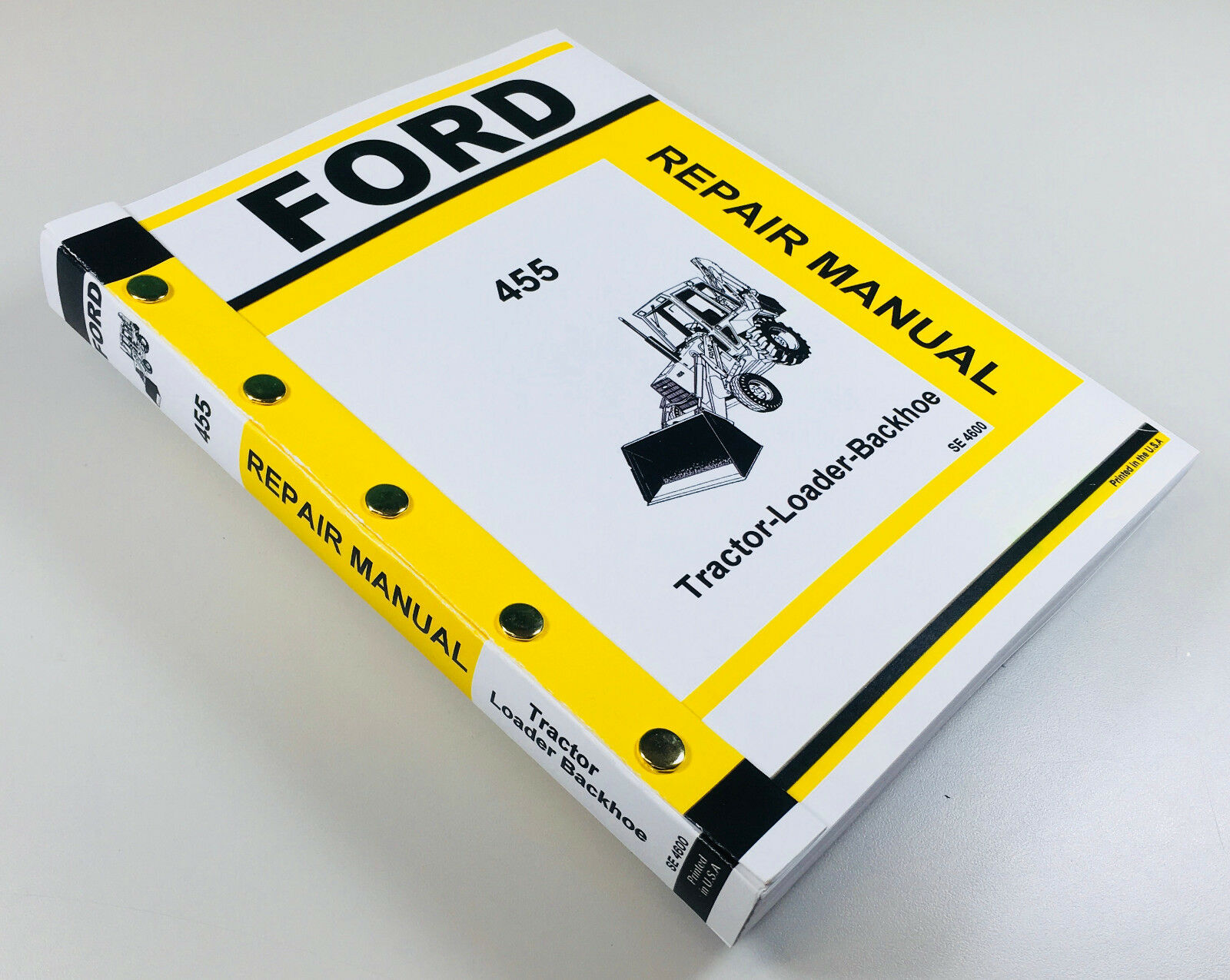 Ford 455 Tractor Loader Backhoe Service Repair Manual Technical Shop Book 1  of 11FREE Shipping ...