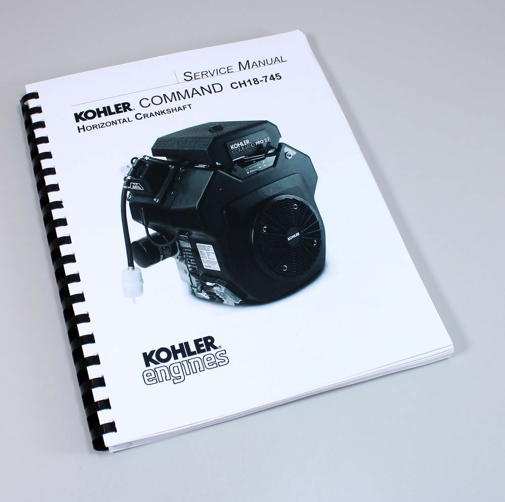 Kohler Command Ch18 745 Horizontal Crankshaft Engine Service Repair 18 Hp Diagram Manual Book 1 Of 8free Shipping