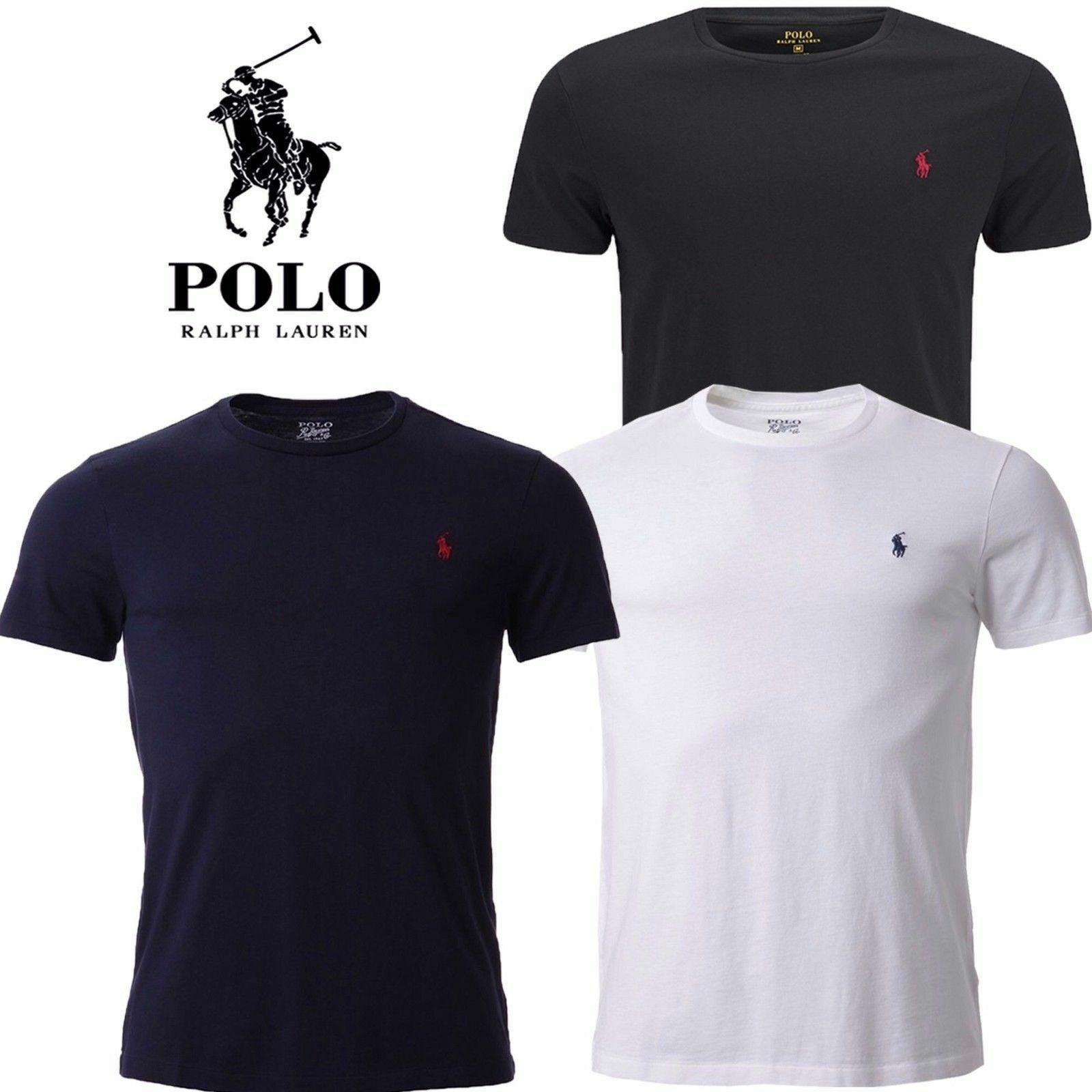 Ralph lauren t shirt uomo custom fit m corta girocollo 100 for Personalized polo shirts for toddlers