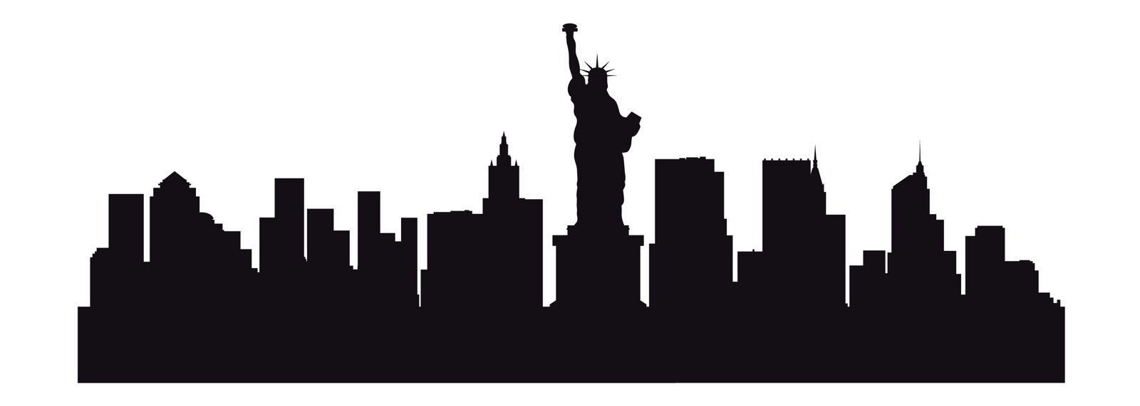New York Ny City Skyline Cityscape Silhouette Car Decal Window Wall