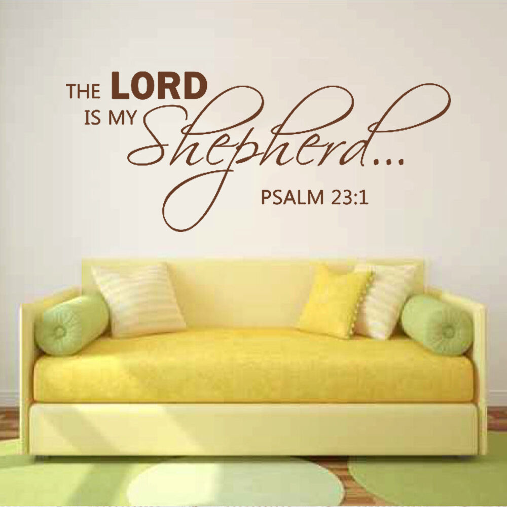 THE LORD is My Shepherd Wall Sticker Inspirational Bible Psalm Qoute ...