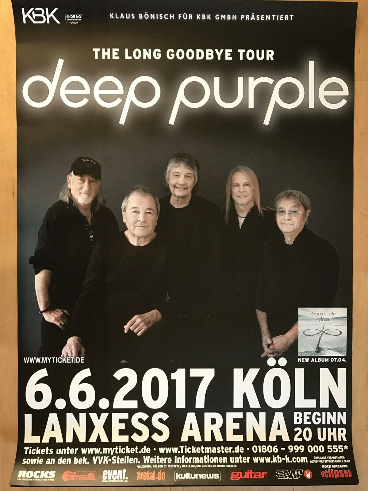 deep purple 2017 k ln tour poster concert poster eur 24 99 picclick de. Black Bedroom Furniture Sets. Home Design Ideas