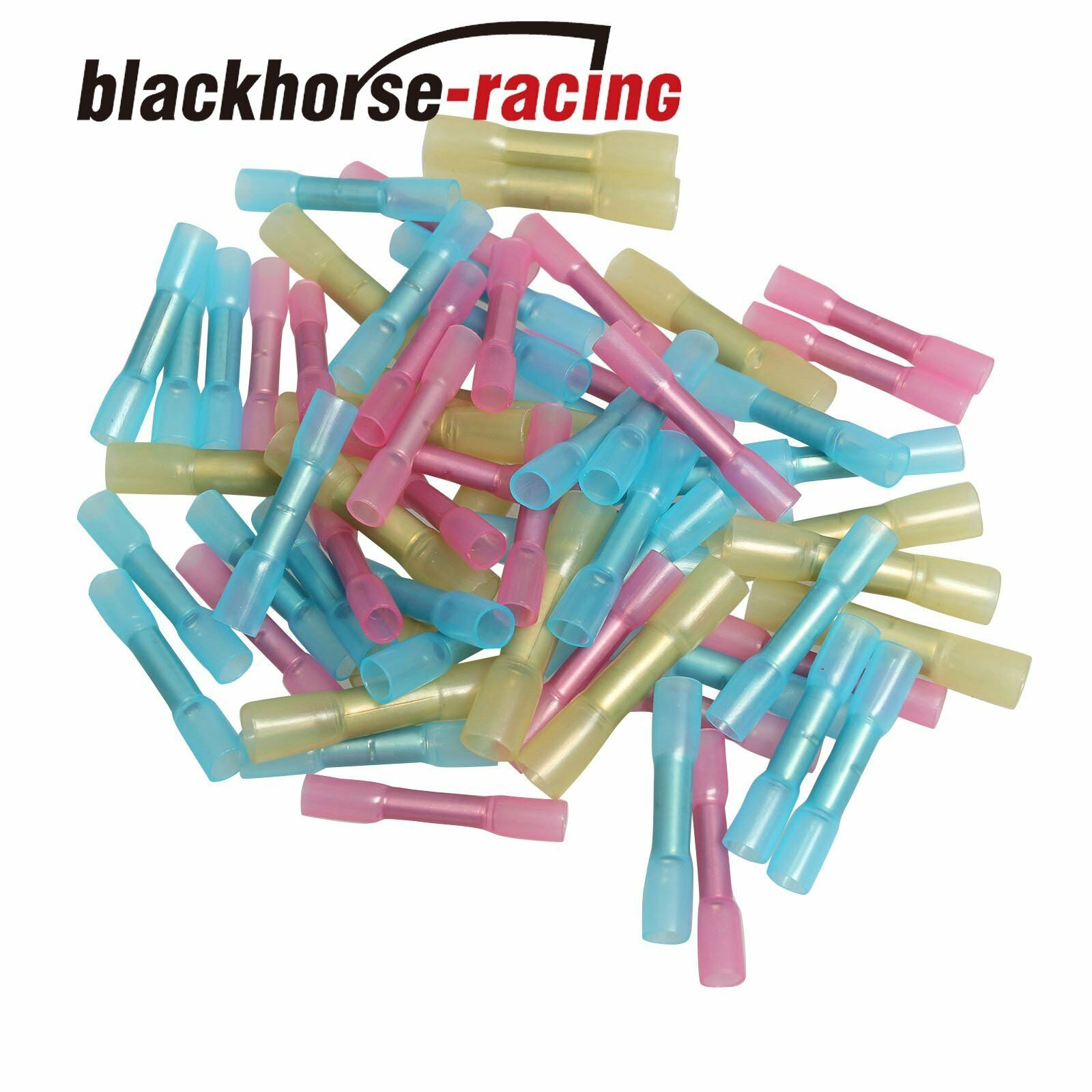 100X 10-12 14-16 18-22 AWG Heat Shrink Butt Wire Electrical Crimp ...