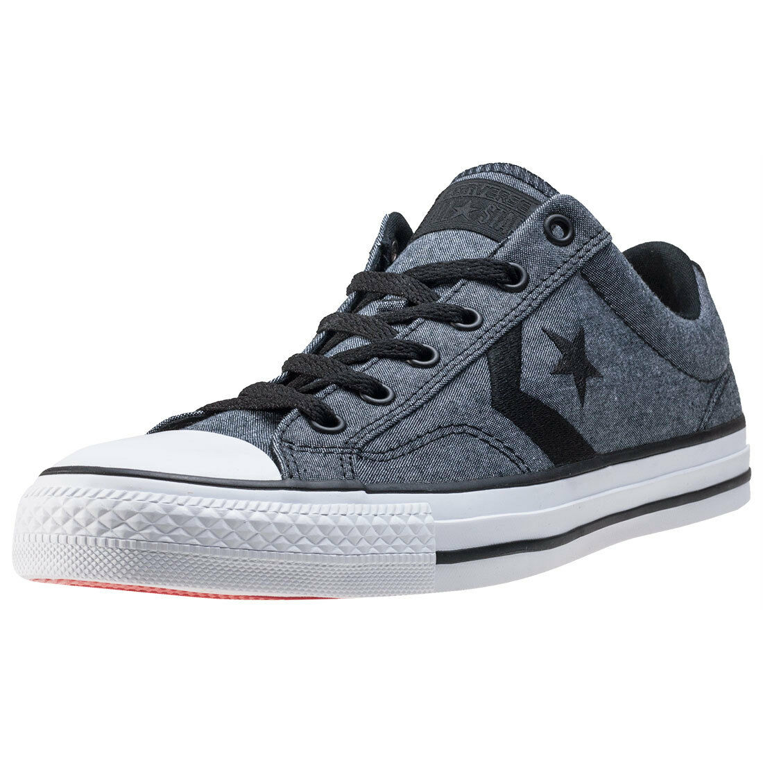 converse star player ox mens trainers black white new. Black Bedroom Furniture Sets. Home Design Ideas