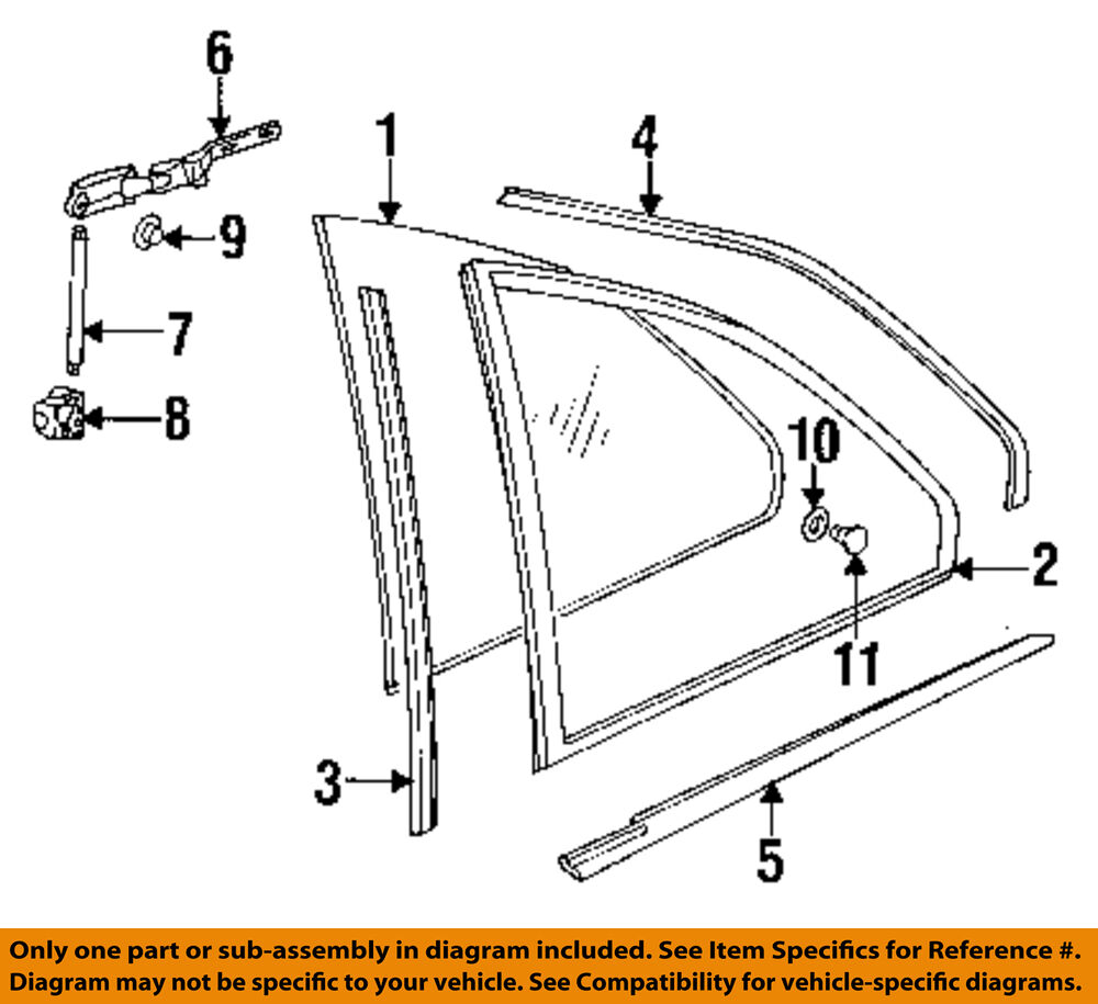 Bmw Oem 92 97 318is Glass Hardware Window Molding Left 51368119963 Engine Diagram Of 1994 318 1 1free Shipping