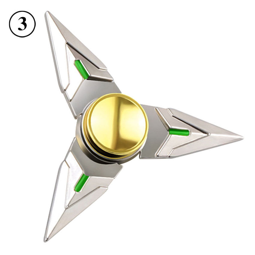 tri fidget hand spinner triangle focus edc spin bearing add toy silver 2017 cad. Black Bedroom Furniture Sets. Home Design Ideas