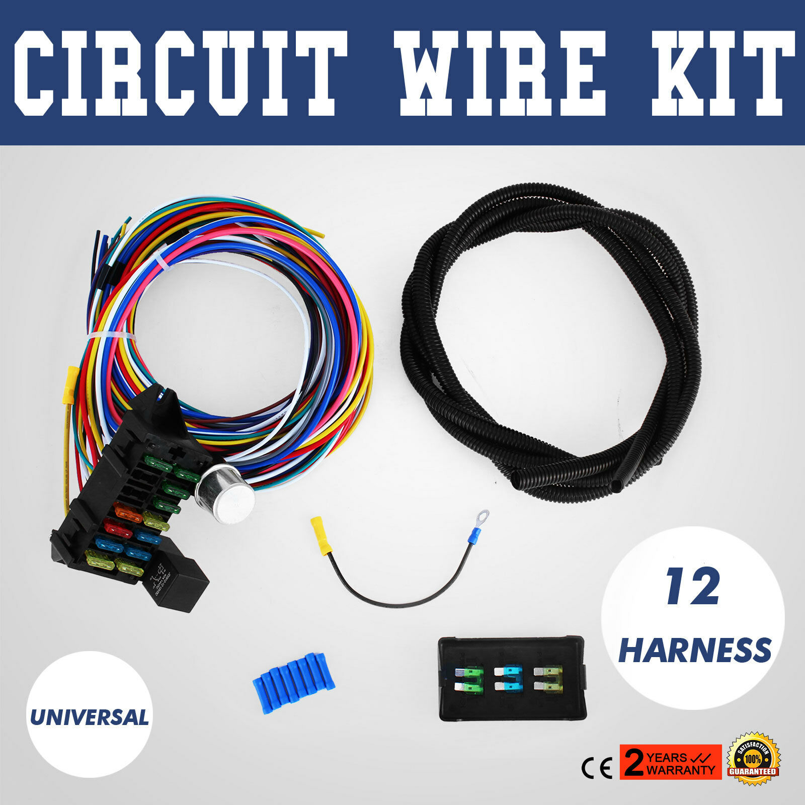 12 Circuit Universal Wire Harness Muscle Car Hot Rod Street New Automotive Wiring Kit Xl Wires 1 Of 12only 3 Available