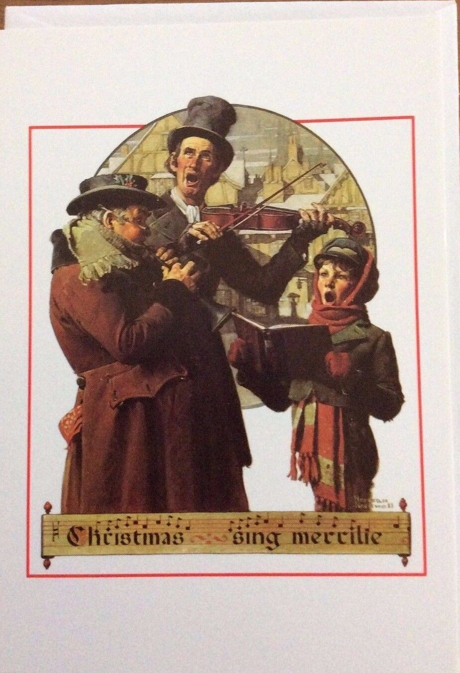 CHRISTMAS CARD BY Norman Rockwell, Vintage 1993, \