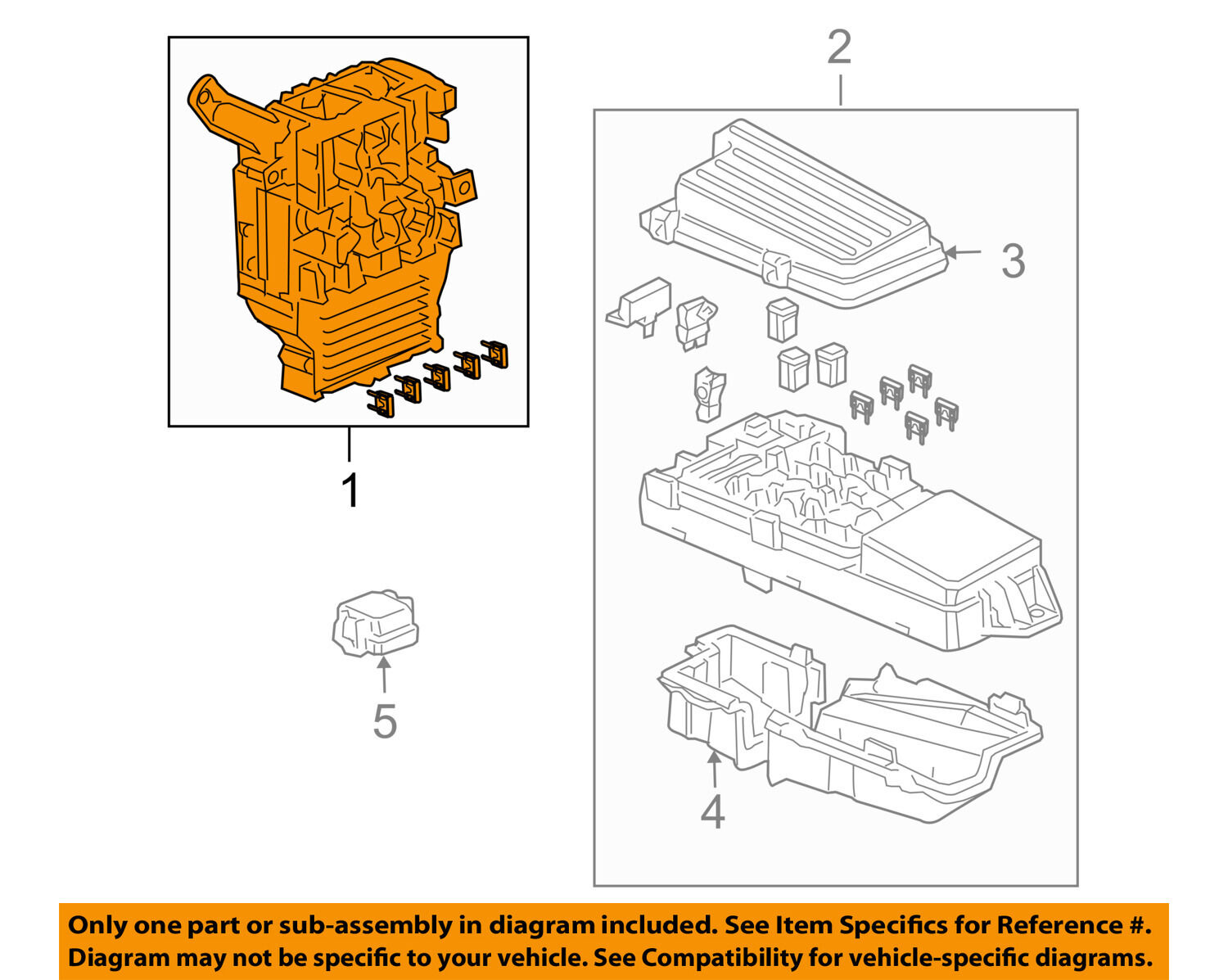 HONDA OEM 03-05 Accord Electrical-Fuse Box Main 38200SDNA22 1 of 2Only 1  available ...