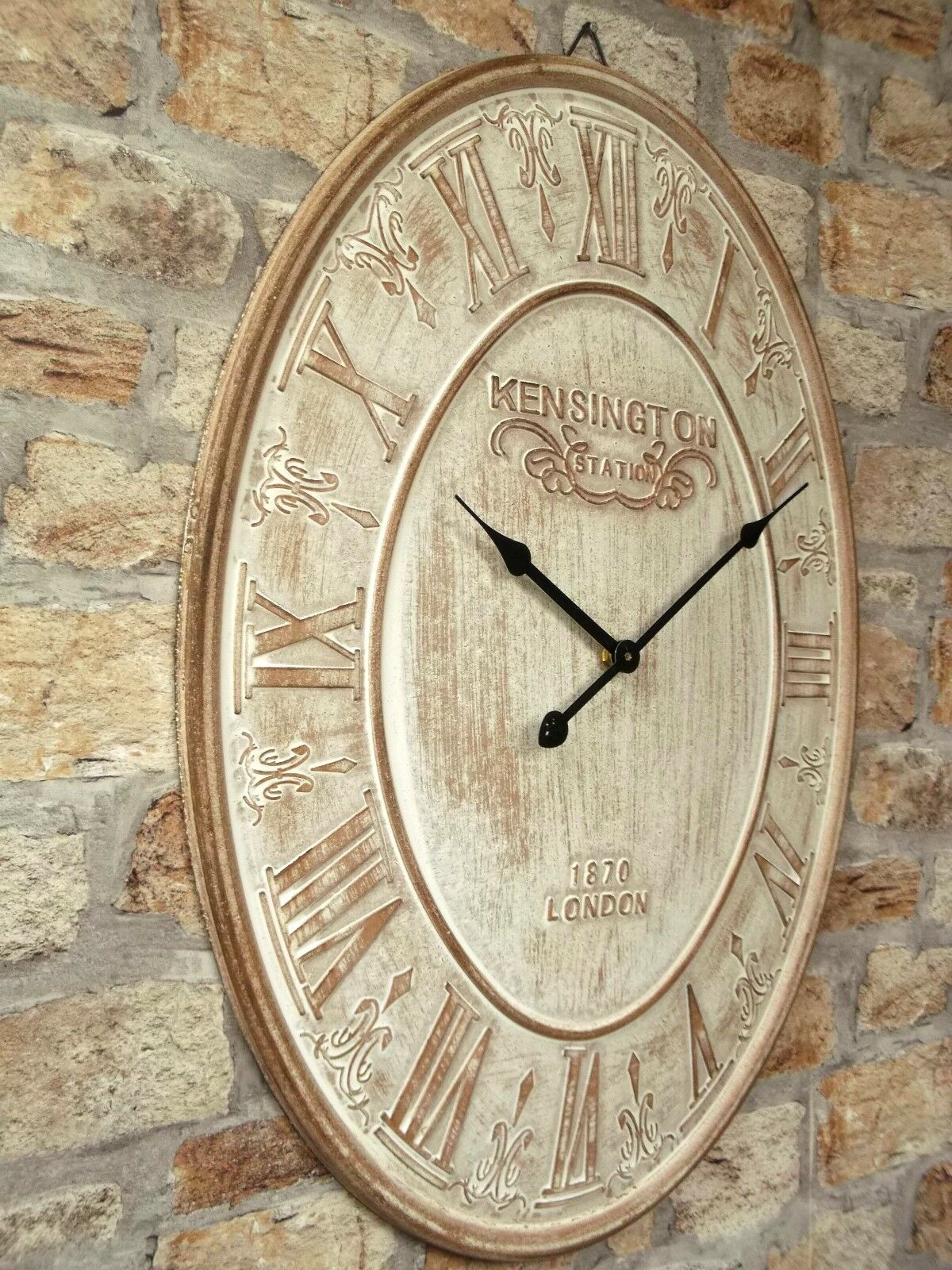 Extra Large 60cm Vintage Style Wall Clock Shabby Chic