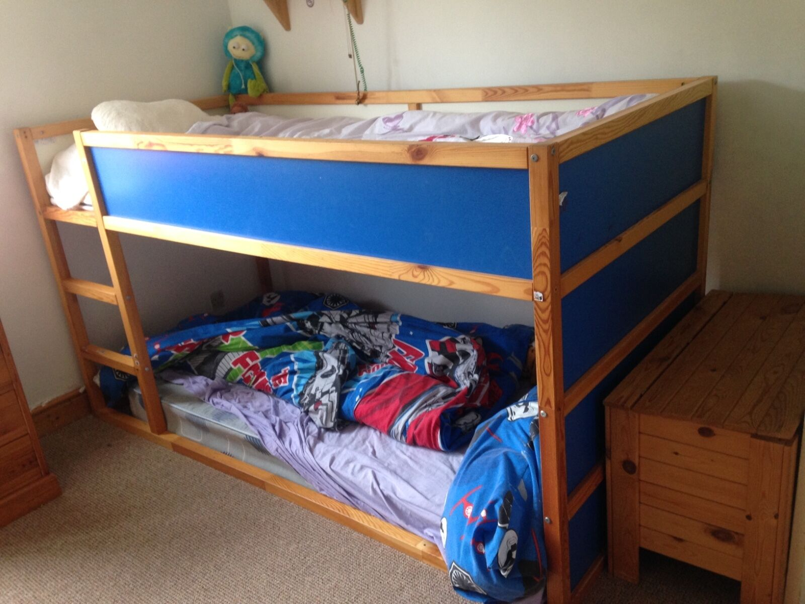 Used ikea reversible childrens kids mid sleeper bed frame mattress with canopy - Ikea kids bed frames ...