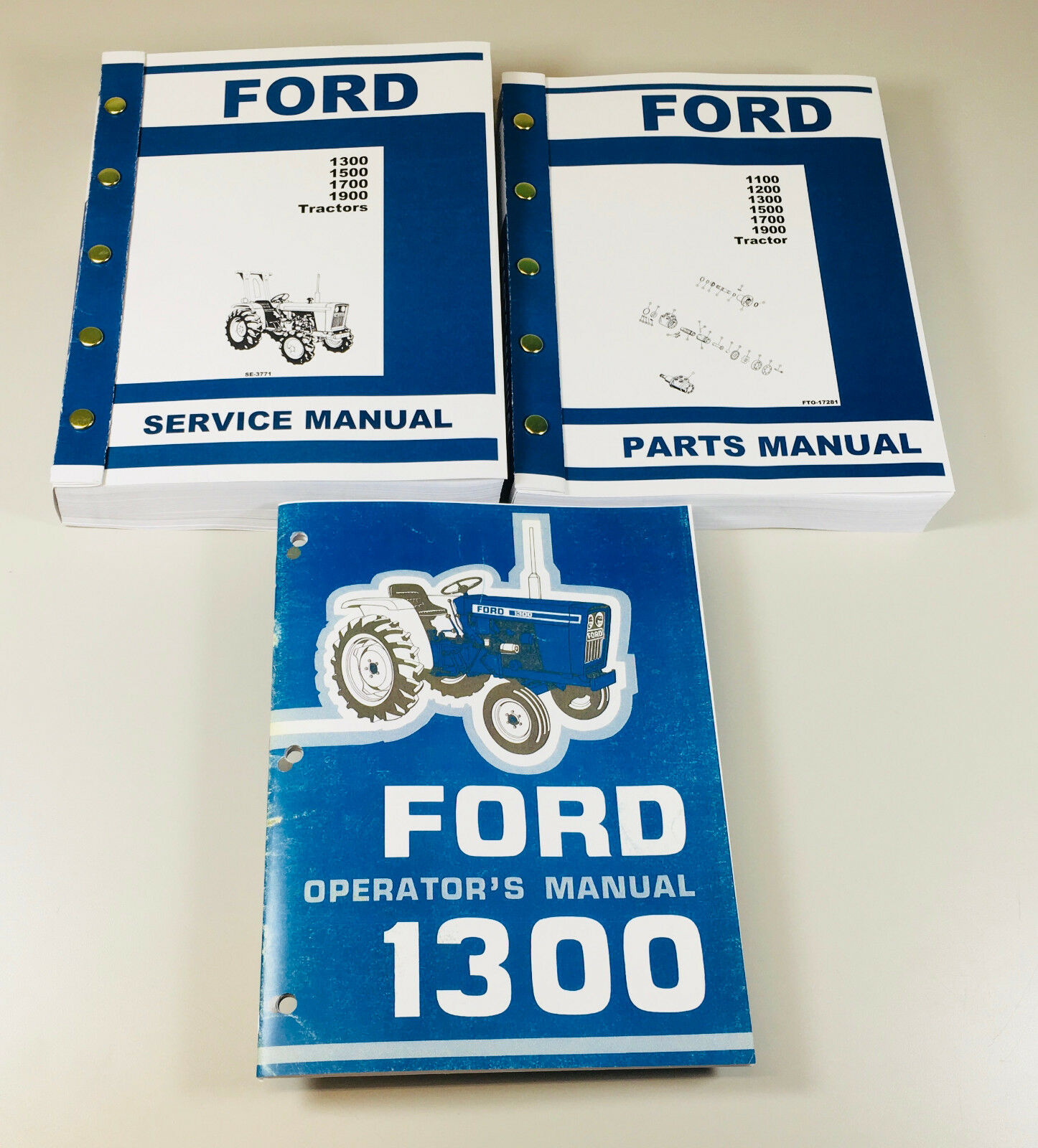 Ford 1300 Tractor Service Parts Operators Manual Owners Repair Catalog Set  1 of 12FREE Shipping ...