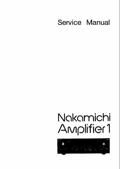 nakamichi amplifier 1 stereo amp service manual inc schems
