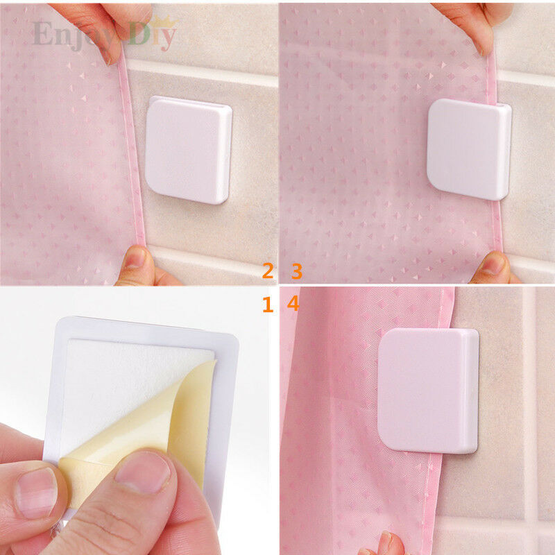Shower Curtain Clips Anti Splash Spill Stop Water Leaking Guard Bathpair 1 Of 1FREE Shipping