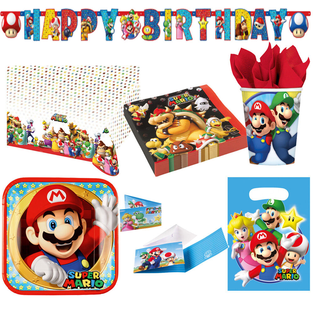 super mario bros kindergeburtstag auswahl deko party dekoration luigi neu eur 1 99 picclick de. Black Bedroom Furniture Sets. Home Design Ideas