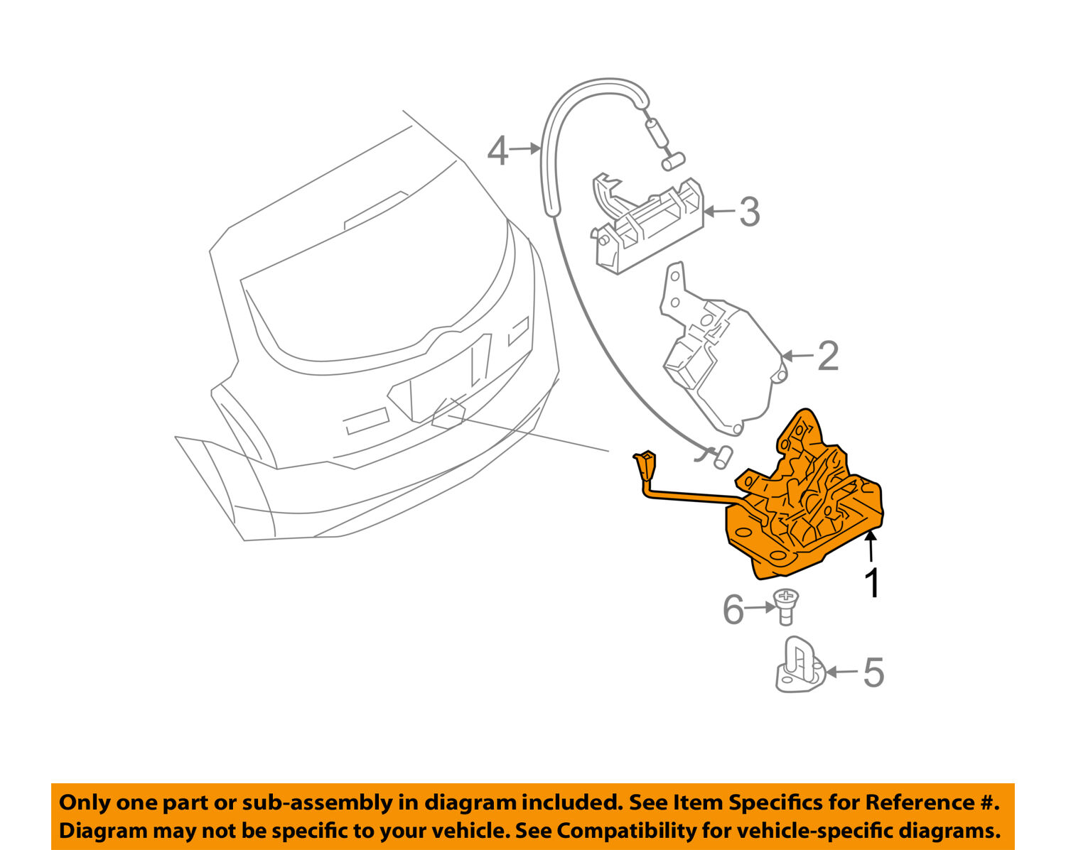 Nissan Oem 03 07 Murano Liftgate Lock Actuator Motor 90502ca00b Diagram Of 2004 Engine 1 2free Shipping