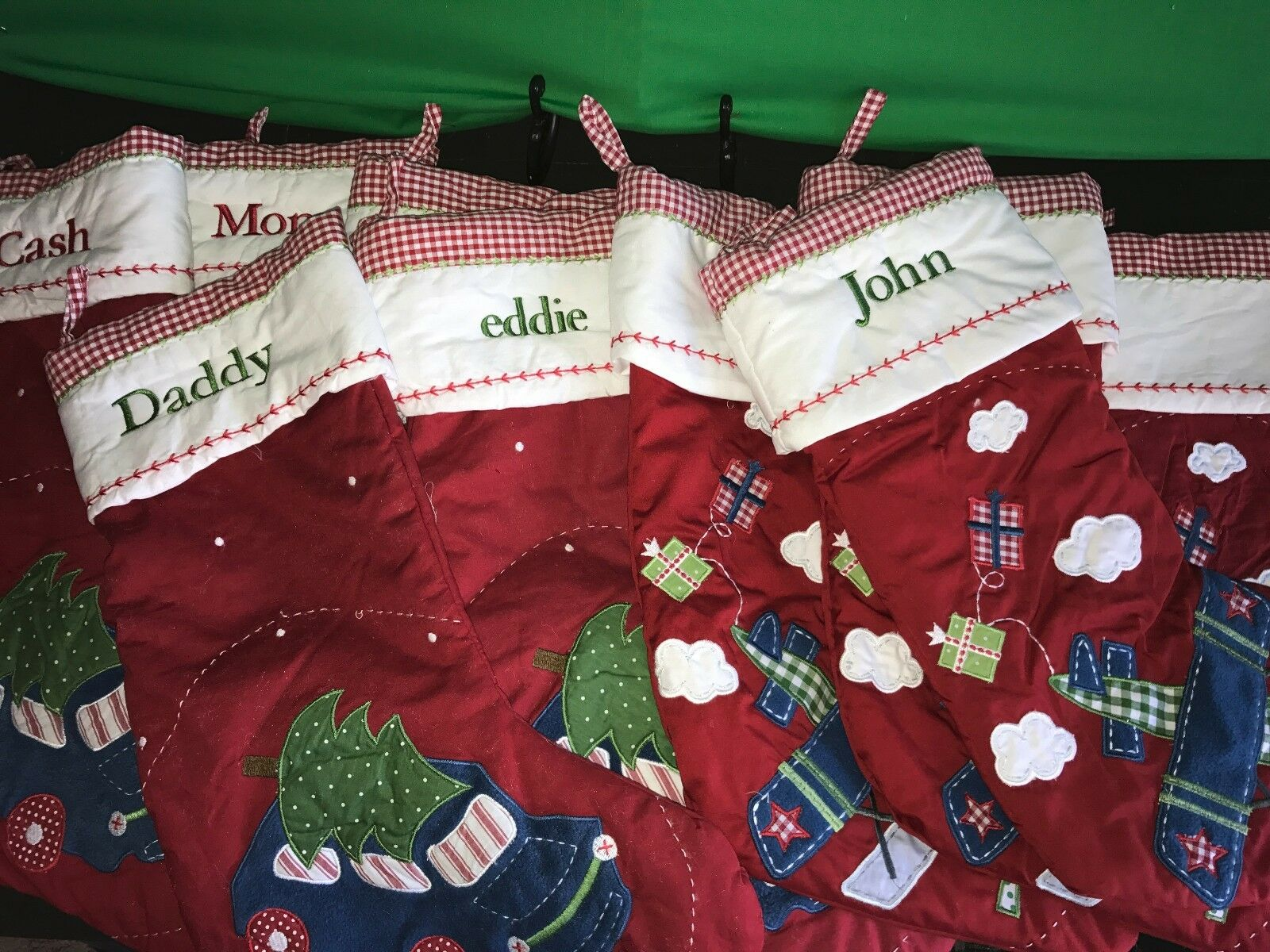 POTTERY BARN KIDS New Quilted Plane Car Tree Christmas Stocking ...