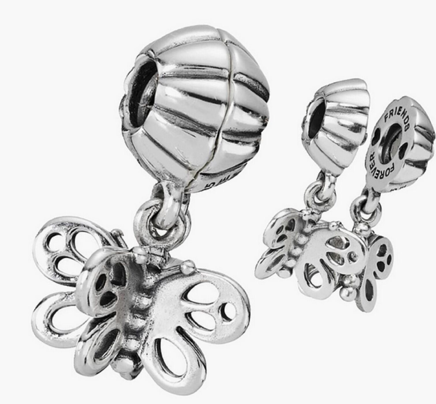 new genuine silver pandora best friend butterfly pendant