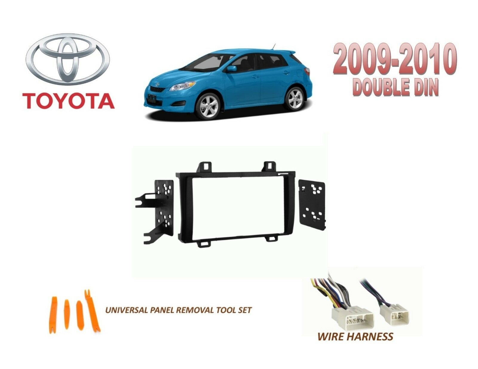 2009 2010 Toyota Matrix Dash Install Kit For Car Stereo With Wire Harness