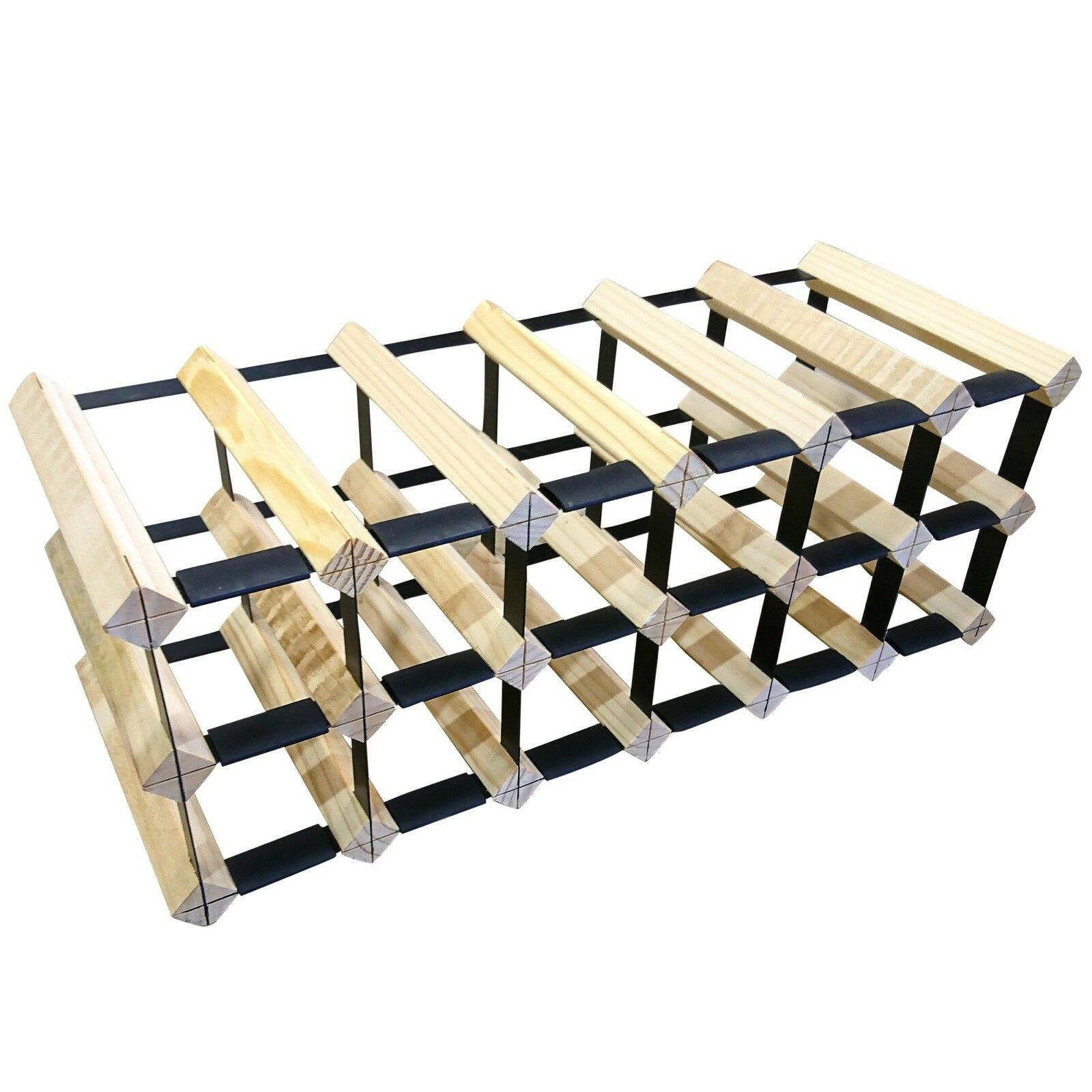 18 Bottle Timber Wine Rack - Slim Edition - Wine Stash + Free Assembly & Postage