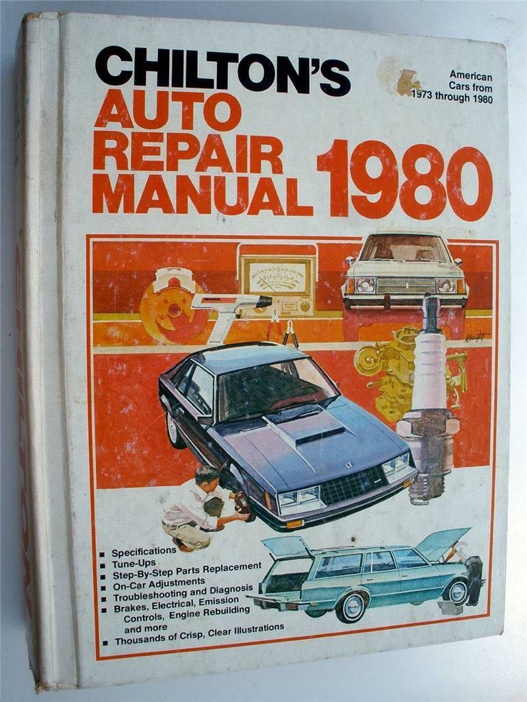 Vintage 1980 CHILTON'S Auto Repair Manual Book American Cars 1973 -1980 1  of 2Only 1 available ...