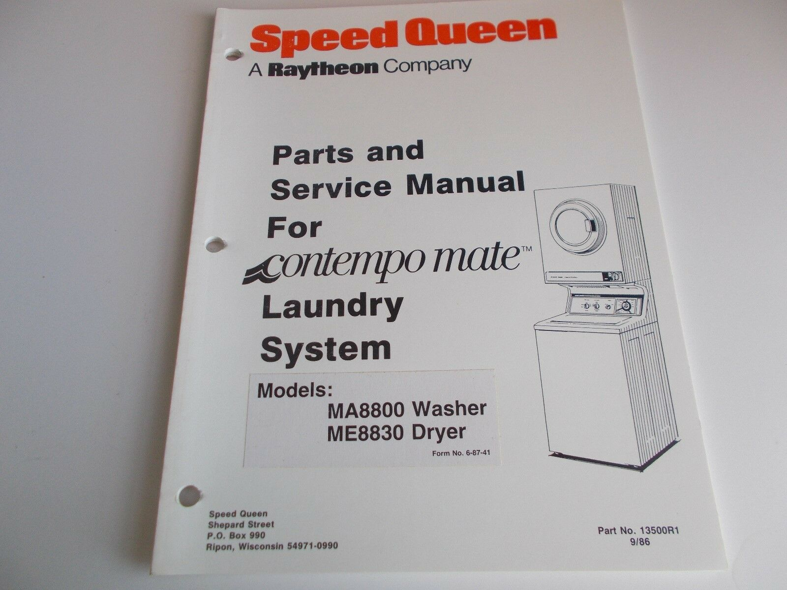 speed queen parts and service manual for contempomate laundry system rh picclick co uk