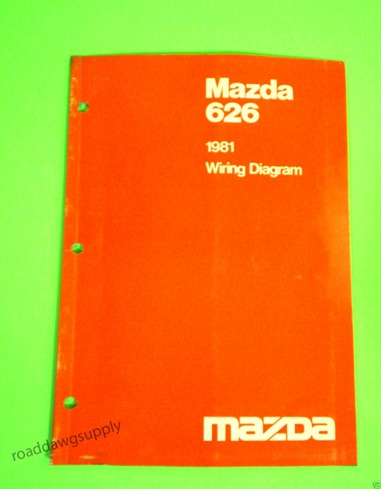 1981 Mazda 626 Wiring Diagrams Service Shop Repair Manual 840 1989 B2200 Diagram 1 Of 1only Available