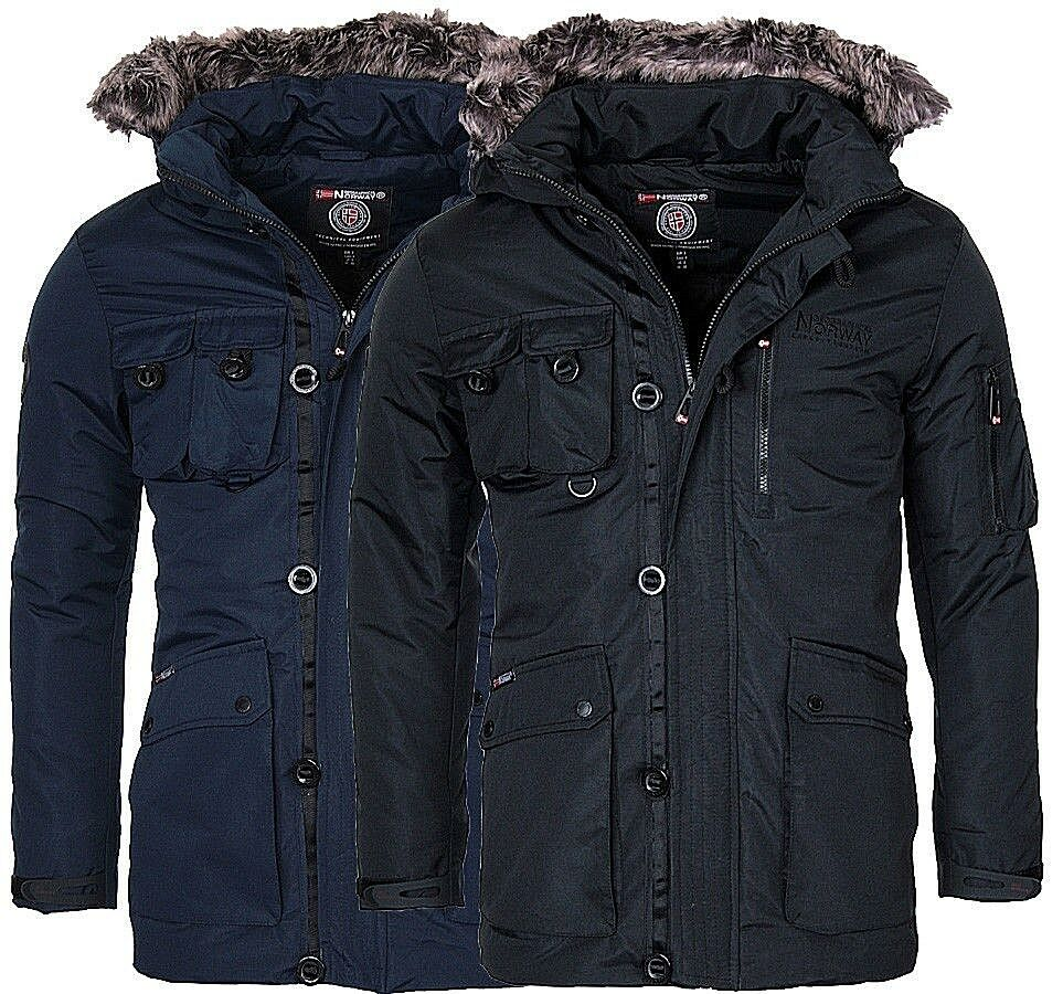 geographical norway herren warme winter jacke parka mantel winterjacke anorak eur 59 90. Black Bedroom Furniture Sets. Home Design Ideas