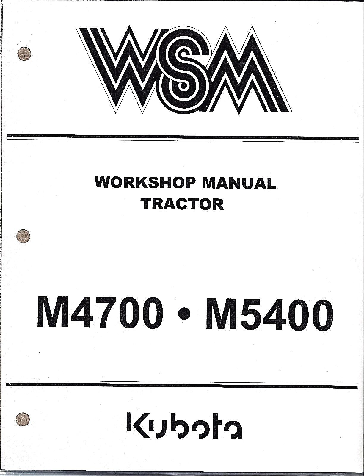 Kubota M4700 M5400 Tractor Workshop Service Repair Manual 97897-11793 1 of  1Only 1 available ...