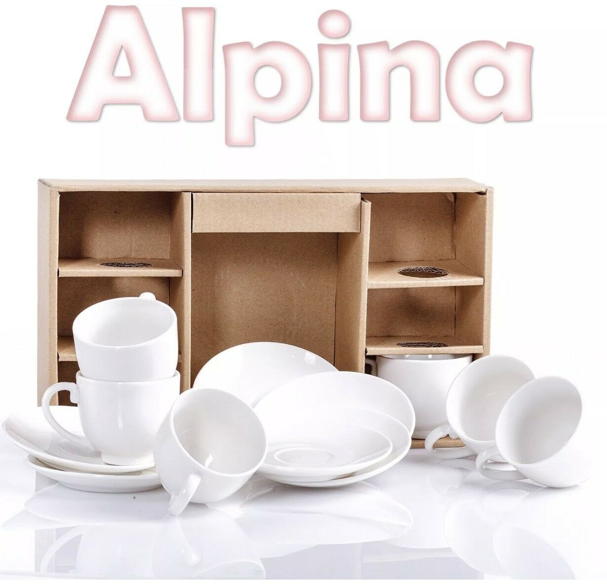12tlg set alpina wei espresso tassen untertasse porzellan kaffee 75ml eur 12 90 picclick de. Black Bedroom Furniture Sets. Home Design Ideas