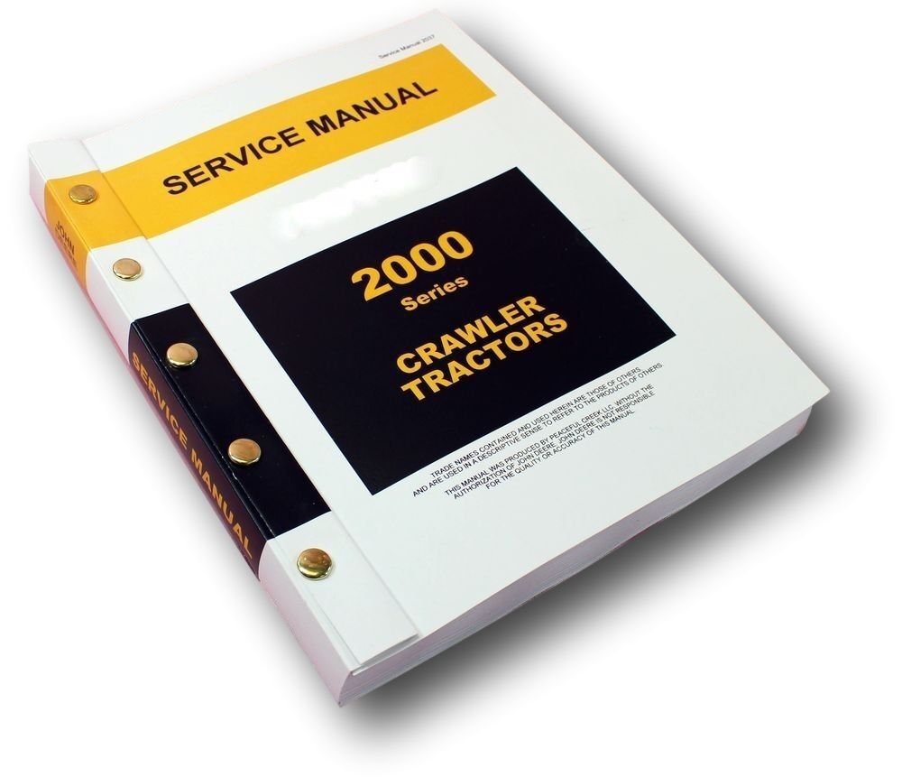 Service Manual For John Deere 2010 Crawler Tractor Bulldozer & Loader Repair  1 of 10Only 2 available ...