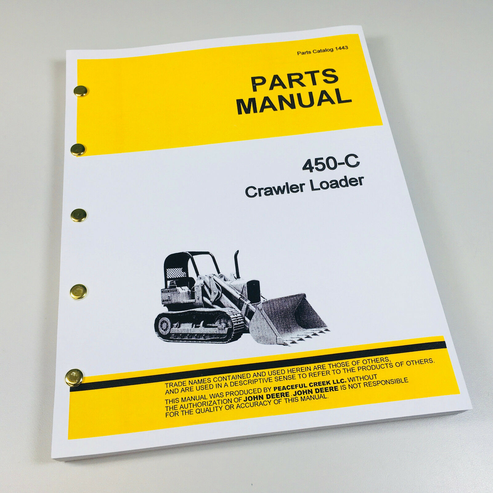 Parts Manual For John Deere 450C Crawler Loader Catalog Tractor Jd450-C 1  of 5FREE Shipping ...