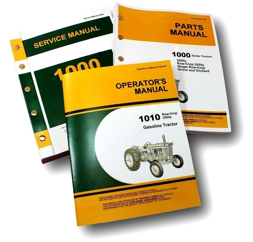 Service Manual Set For John Deere 1010 Gas Tractor Parts Operator Owners  Repair 1 of 12FREE Shipping ...