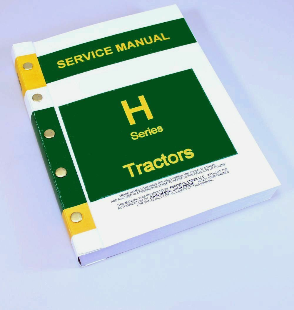 Service Manual For John Deere H Hn Hnh Hwh Tractor Repair Shop Technical 1  of 11FREE Shipping ...