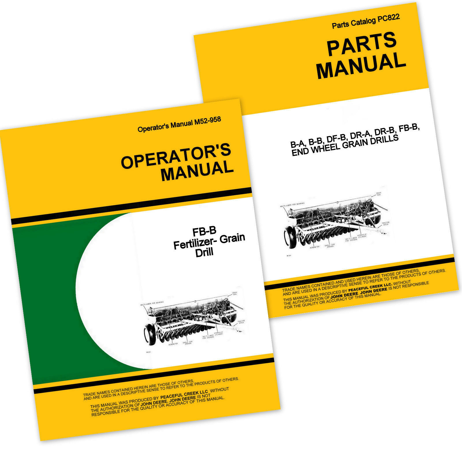 Operator Parts Manual For John Deere Fb168B Fertilizer Grain Drill Owner  Catalog 1 of 1FREE Shipping ...