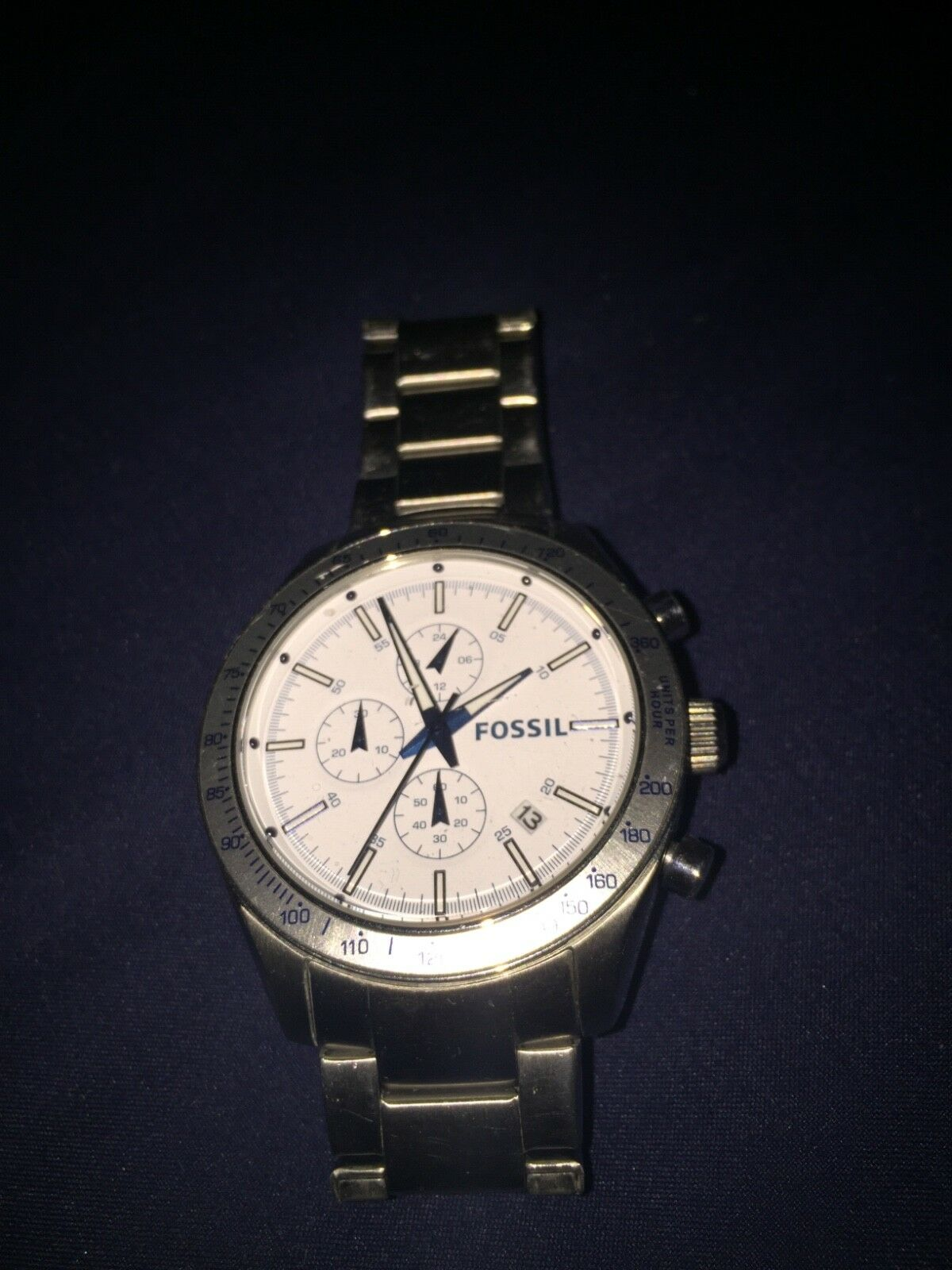 Silver Used Mens Fossil Watch 2500 Picclick Fs4736 1 Of 1only Available