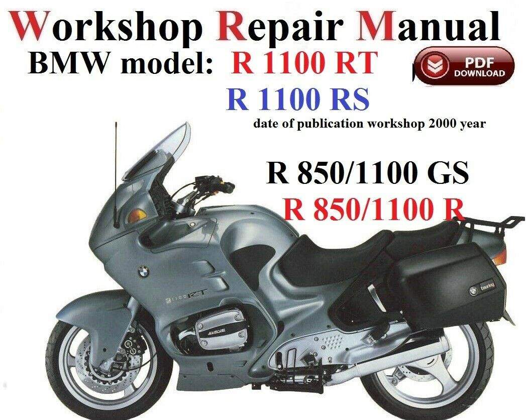 BMW R1100RT/RS R850/1100GS R850/1100R Repair Manual PDF Version 1 of 1FREE  Shipping See More