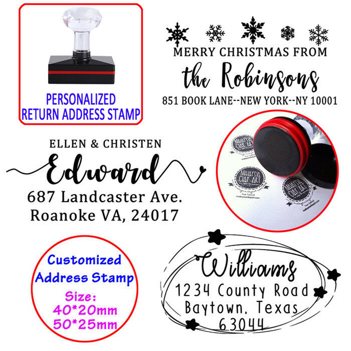 personalized self inking return address rubber stamp wedding