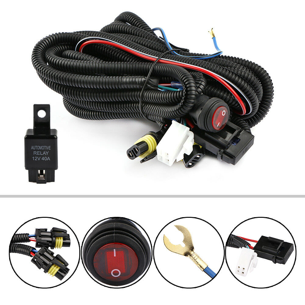 12v 40a Led Work Fog Light Bar Wiring Harness Relay Kit On Off For Bars Switch 1 Of 10free Shipping