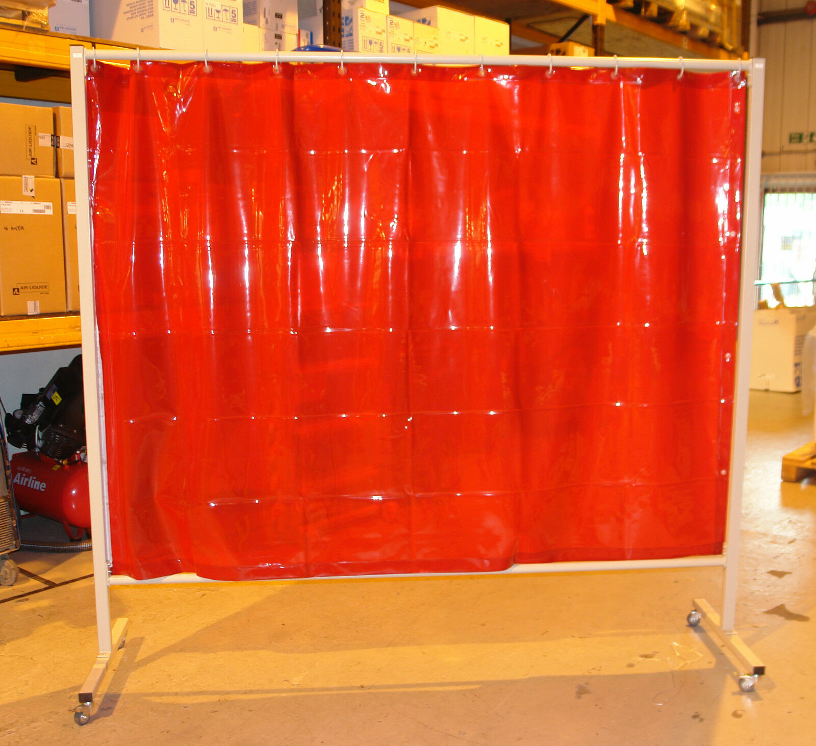 curtain x green quality screen industrial welding red