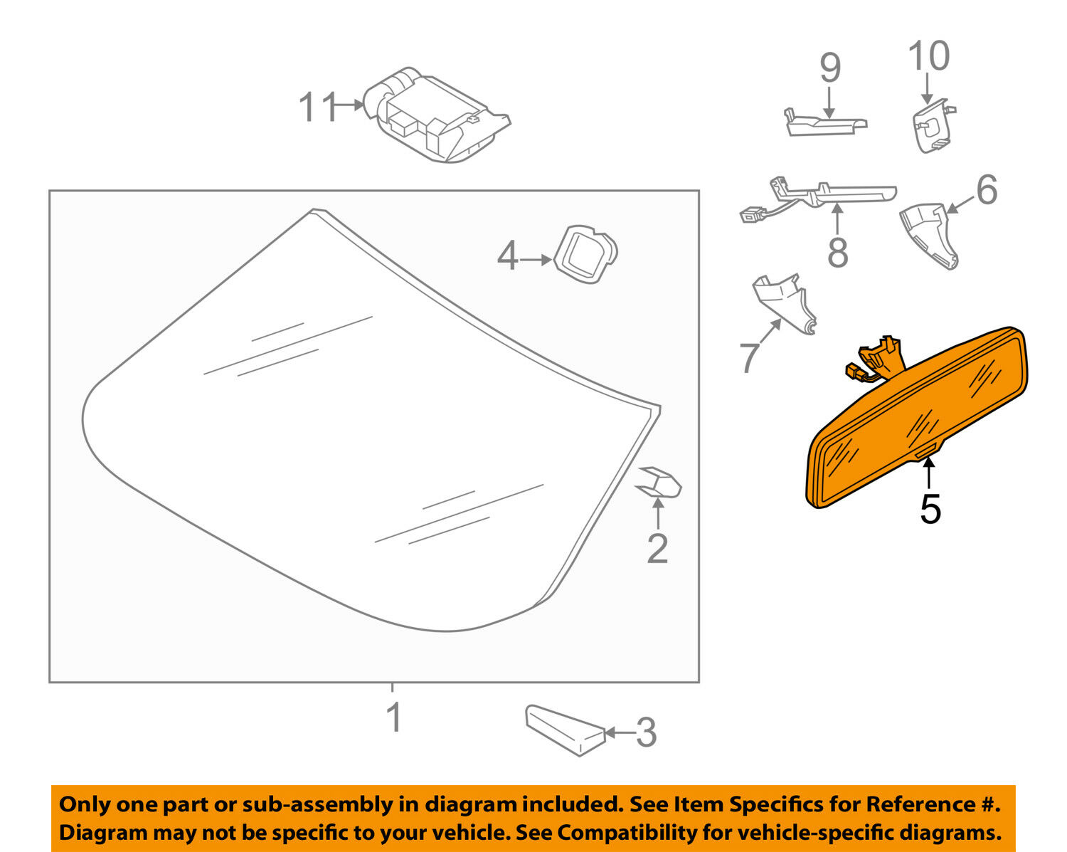 Vw Volkswagen Oem 12 15 Passat Inside Rearview Rear View Mirror Gentex 177 Wiring Diagram 1 Of 2free Shipping