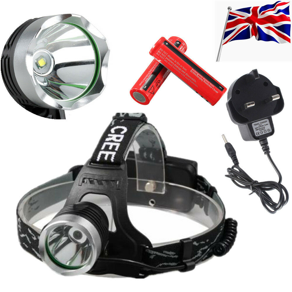 8000lm Cree Xm L T6 Led Headlamp Headlight Rechargeable Head Torch High Power 5000 Lumens Black 18650 Lamp Bh 1 Of 7free Shipping