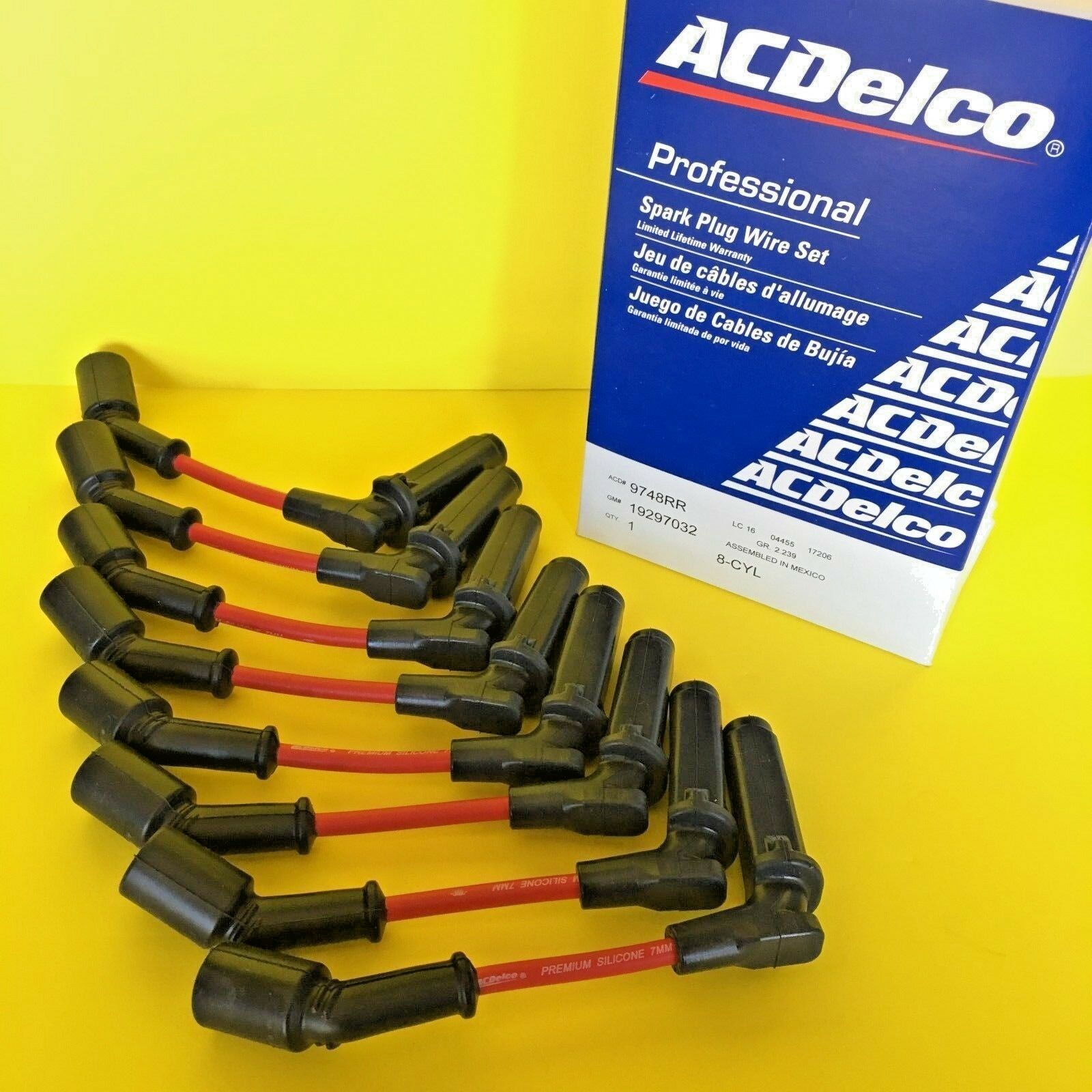 New Oem Acdelco Professional 9748rr Spark Plug Wire Set For Gm 3 Wiring 1 Of 5only Available